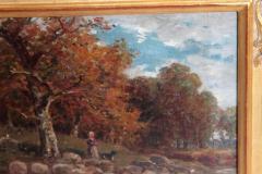 James Desvarreux Larpenteur Oil on Canvas Paturage dans Yonne by James Desvarreux Larpenteur 1847 1947  - 1986001
