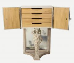 James E Dolena Pair of Art Deco Fitted Leather Cabinets by J E Dolena - 1915438