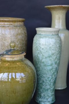 James Fox Collection of Crystalline Glazed Ceramics in Green - 1006934