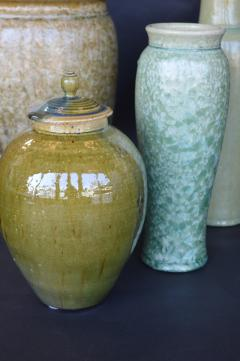 James Fox Collection of Crystalline Glazed Ceramics in Green - 1006941