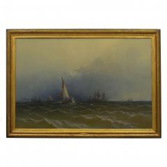 James Hamilton Channel Scenery 1864 Marine Seascape Nautical Painting by James Hamilton - 1115435