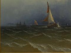 James Hamilton Channel Scenery 1864 Marine Seascape Nautical Painting by James Hamilton - 1115436