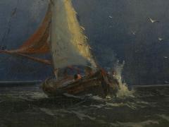 James Hamilton Channel Scenery 1864 Marine Seascape Nautical Painting by James Hamilton - 1115439
