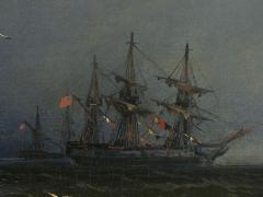 James Hamilton Channel Scenery 1864 Marine Seascape Nautical Painting by James Hamilton - 1115440
