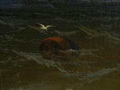 James Hamilton Channel Scenery 1864 Marine Seascape Nautical Painting by James Hamilton - 1115441