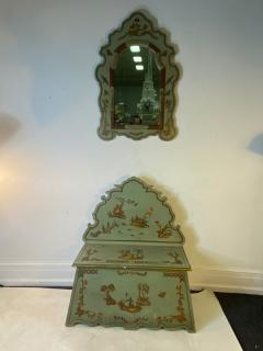James Mont 1940S HAND PAINTED CHINOISERIE MIRROR AND SETTEE SUITE - 1780058
