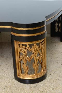 James Mont American Modern Black Lacquer and Parcel Gilt Low Table Attributed to James Mont - 45706