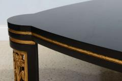 James Mont American Modern Black Lacquer and Parcel Gilt Low Table Attributed to James Mont - 45709