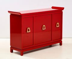 James Mont Beautiful Red Lacquered Cabinet by James Mont  - 2054681