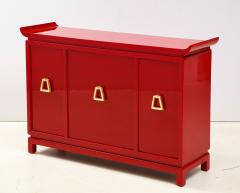 James Mont Beautiful Red Lacquered Cabinet by James Mont  - 2054682