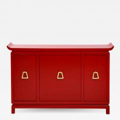 James Mont Beautiful Red Lacquered Cabinet by James Mont  - 2055497