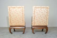 James Mont Chinese Ming James Mont Style Chinoiserie Occasional Chairs Having Chong Legs - 1930568