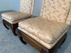 James Mont Chinese Ming James Mont Style Chinoiserie Occasional Chairs Having Chong Legs - 1930569