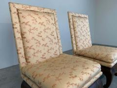 James Mont Chinese Ming James Mont Style Chinoiserie Occasional Chairs Having Chong Legs - 1930570