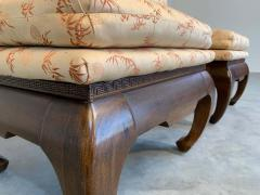 James Mont Chinese Ming James Mont Style Chinoiserie Occasional Chairs Having Chong Legs - 1930572