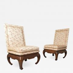 James Mont Chinese Ming James Mont Style Chinoiserie Occasional Chairs Having Chong Legs - 1932938