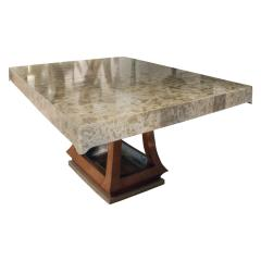 James Mont James Mont Asian Style Dining Table with Custom Oil Lacquer Finish 1940s - 444045