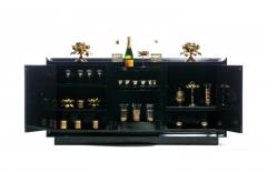 James Mont James Mont Attributed Black Lacquered Sideboard or Bar Cabinet circa 1940s - 2042406