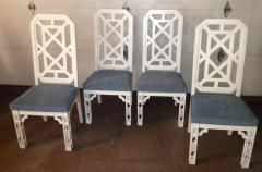 James Mont James Mont Attributed Set of 4 Chairs White Lacquer - 80812