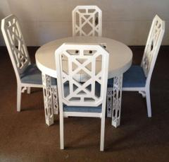 James Mont James Mont Attributed Set of 4 Chairs White Lacquer - 80813