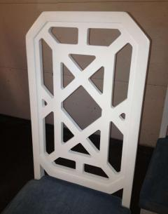 James Mont James Mont Attributed Set of 4 Chairs White Lacquer - 80814