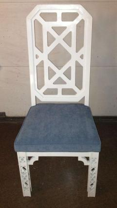 James Mont James Mont Attributed Set of 4 Chairs White Lacquer - 80815