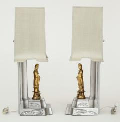 James Mont James Mont Gilded Chinoiserie Lamps - 990567