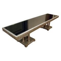 James Mont James Mont Large Coffee Table in White Gold Leaf 1950s - 441387