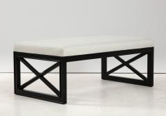 James Mont James Mont Lattice Frame Upholstered Bench - 1652399