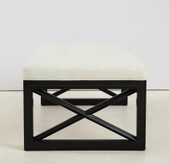 James Mont James Mont Lattice Frame Upholstered Bench - 1652401