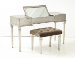 James Mont James Mont Silver Leafed Vanity Desk - 1197234