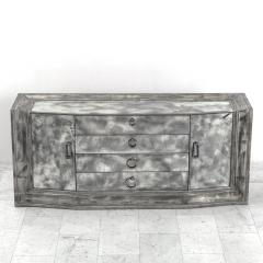 James Mont James Mont Smoked Mirror and Silver Leafed Breakfront Sideboard USA c 1950s - 298696