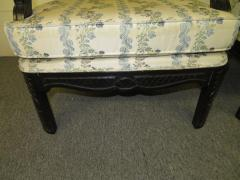 James Mont Lovely Pair of Caned Chinoiserie Asian Style Armchairs Hollywood Regency - 1684886