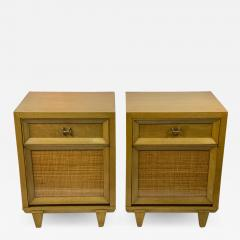 James Mont MID CENTURY WOVEN CANE ACCENT SIDE TABLES NIGHTSTANDS - 1569535