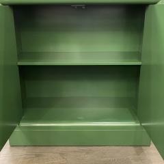 James Mont Midcentury Modern Kelly Green Dry Bar Sideboard w Gilt Pulls Signed James Mont - 1741073