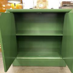 James Mont Midcentury Modern Kelly Green Dry Bar Sideboard w Gilt Pulls Signed James Mont - 1741074