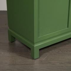 James Mont Midcentury Modern Kelly Green Dry Bar Sideboard w Gilt Pulls Signed James Mont - 1741086