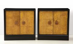 James Mont Pair of James Mont Oak Front Cabinets  - 1924509