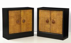 James Mont Pair of James Mont Oak Front Cabinets  - 1924510