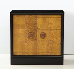 James Mont Pair of James Mont Oak Front Cabinets  - 1924511