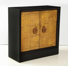 James Mont Pair of James Mont Oak Front Cabinets  - 1924513