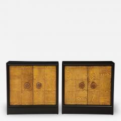 James Mont Pair of James Mont Oak Front Cabinets  - 1926965