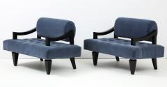 James Mont Rare Pair of James Mont Lounge Chairs  - 1206056