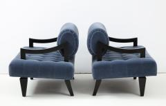 James Mont Rare Pair of James Mont Lounge Chairs  - 1206058