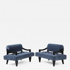 James Mont Rare Pair of James Mont Lounge Chairs  - 1207157