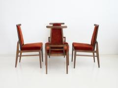 James Mont Set of Four Wood and Velvet Chairs by James Mont - 1652607
