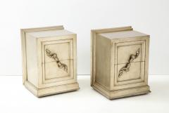 James Mont Spectacular Pair of Rare James Mont Scroll cabinets  - 2112375