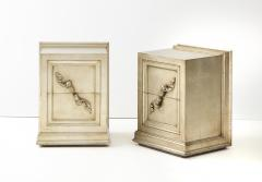 James Mont Spectacular Pair of Rare James Mont Scroll cabinets  - 2112377