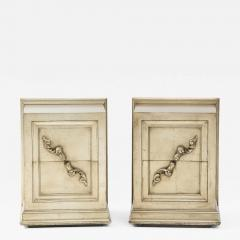 James Mont Spectacular Pair of Rare James Mont Scroll cabinets  - 2113703