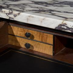 James Newton Pair of Regency Black Lacquer Marble Top Pier Cabinets - 1017003